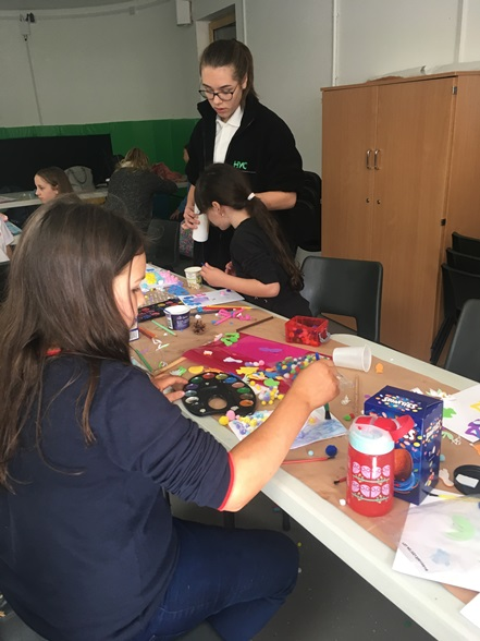 Harlow Youth Council Easter event crafting