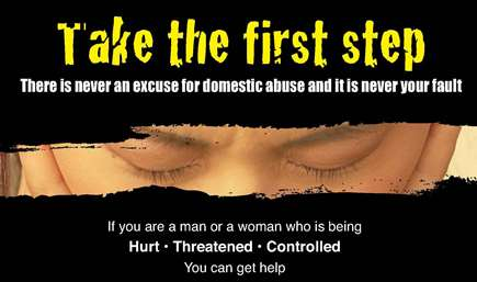 Take the first step domestic abuse poster
